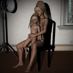 Mom and Daughter Photo Shoot Lolicon 3D Images (8)